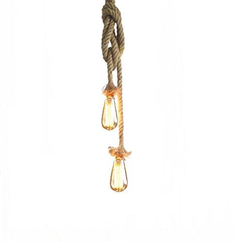 Hängelampe Vintage Seilampe Pendelleuchte Hängeleuchte Lixada Lampenfassung 50cm...