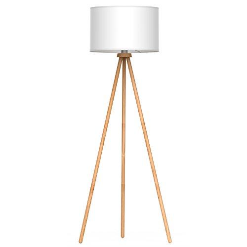 tomons Stehlampe Stativ aus Holz für das Wohnzimmer, Schlafzimmer und andere Zimmer,...