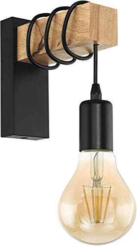 EGLO Wandlampe Townshend, 1 flammige Vintage Wandleuchte im Industrial Design, Retro...