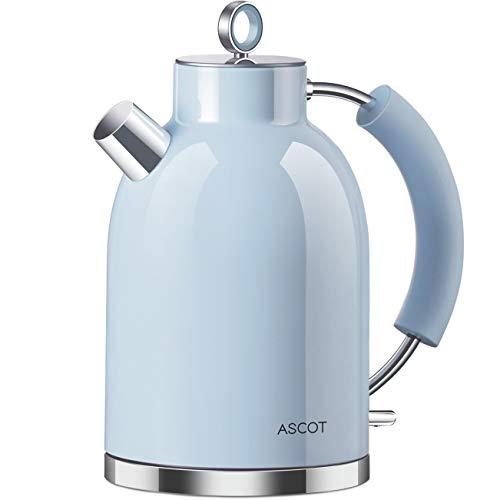 Wasserkocher Edelstahl, ASCOT 1.6 Liter Elektrischer Wasserkocher, BPA frei,...