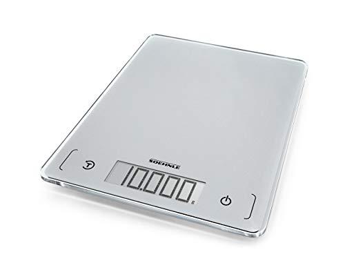 Soehnle Page Comfort 300 slim, digitale Küchenwaage, silber, Gewicht bis zu 10 kg...