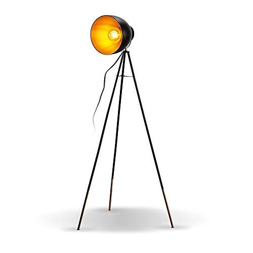 B.K.Licht I Stehlampe Vintage I Stehleuchte Retro I Industrial I Metall I...