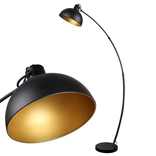 Stehlampe Arc, Osasy Vintage Stehleuchte, Retro Stehleuchten in Schwarz-Golden,...