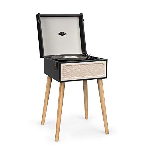 auna Sarah Ann Plattenspieler - Black Box Edition, integrierten Lautsprechern,...