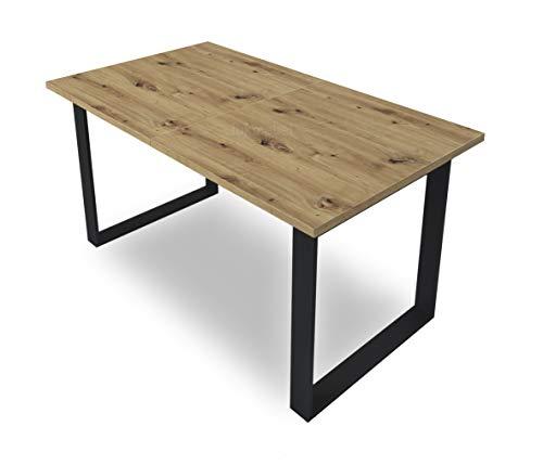 Art Ausziehtisch 150-198 cm Wohnzimmertisch Tisch ausziehbarer Esstisch modern...