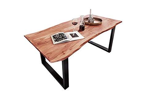 SAM Baumkantentisch 160x85 cm Quarto, Esszimmertisch aus Akazie, Holz-Tisch mit...