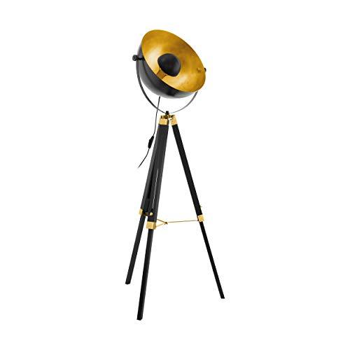 EGLO Stehlampe Covaleda, 1 flammige Stehleuchte Industrial, Vintage, Standleuchte aus...