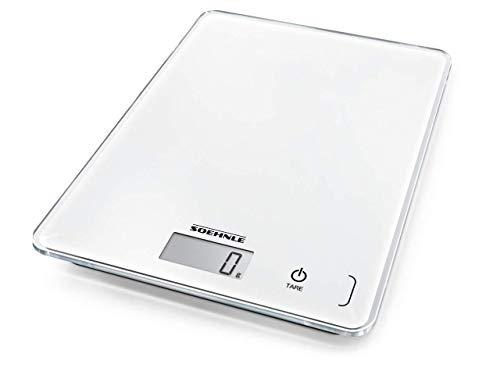 Soehnle Page Compact 300 digitale Küchenwaage bis zu 5 kg Tragkraft, Weiß,...