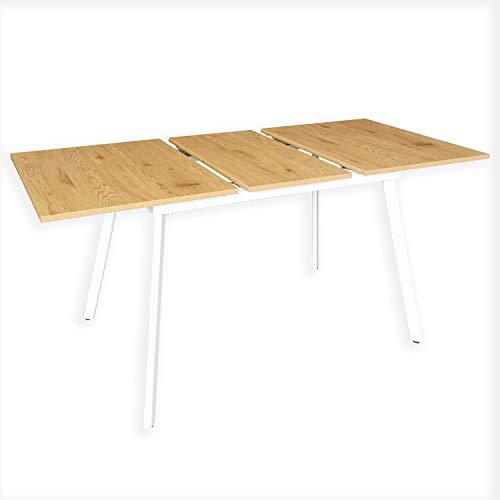 B&D home - Esstisch ausziehbar 120-160x80 cm | Holztisch in Honig Eiche |...