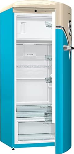 Goreje OBRB153BL Baby Blue Kombi-Kühlschrank 254 LED Beleuchtung