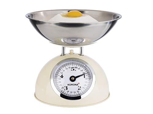 Korona 76151 Retro Küchenwaage Paul | Tragkraft 5 kg, Einteilung 20 g | inkl....