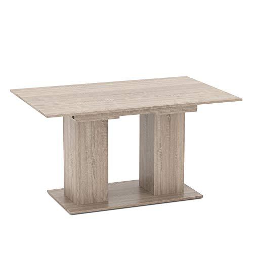 Vicco Esstisch DIX 90 x 140cm - 180 cm Esszimmertisch ausziehbar Küche Tisch (Sonoma...