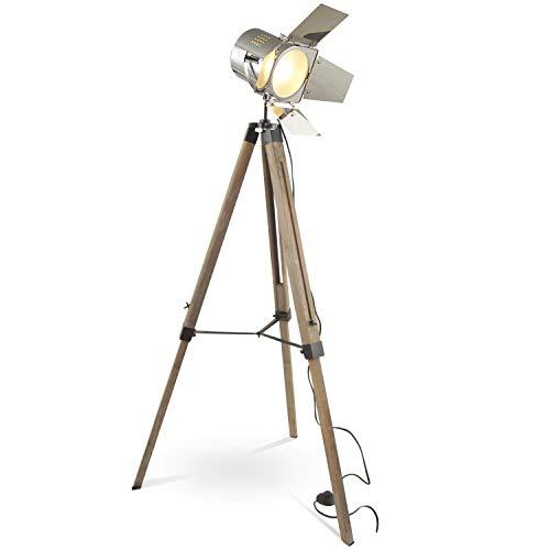 MOJO Tripod Stehleuchte Tischleuchte Höhenverstellbar Stehlampe Tischlampe Retro...