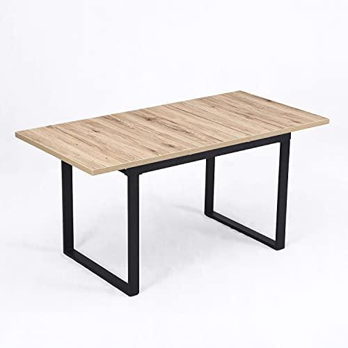 B&D home Esstisch ausziehbar, ausziehbarer Kufentisch für 4-6 Personen, Holztisch...