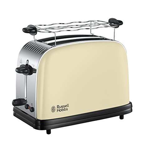 Russell Hobbs Toaster Colours+ creme, 2 extra breite Toastschlitze, inkl....