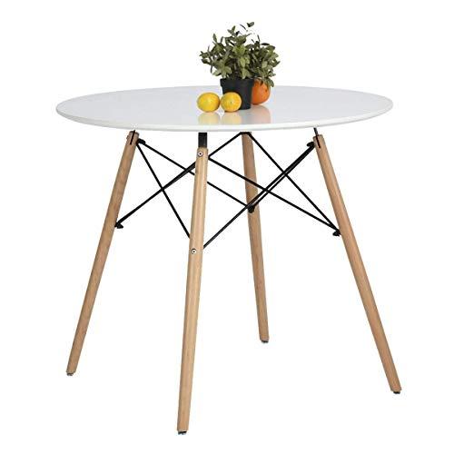 Coavas Esstisch Weiß Rund Küchentisch Modern Büro Konferenztisch Kaffeetisch,...