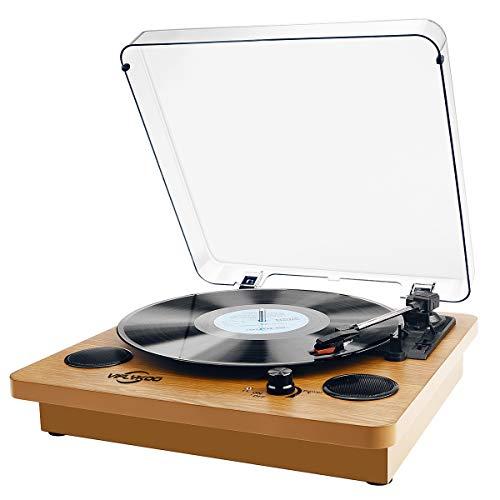 Plattenspieler,VIFLYKOO Bluetooth Schallplattenspieler Vinyl Plattenspieler Turntable...
