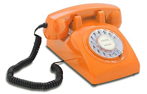 Opis 60s Cable mit klassischem Deutsche Post Pappeinleger: Retro Telefon im sechziger...