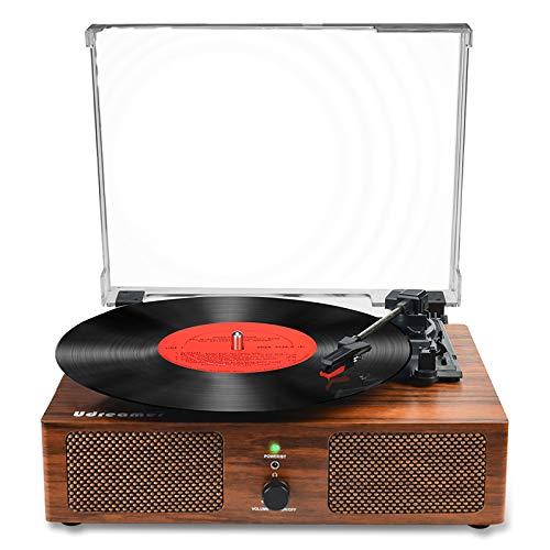 Vinyl Plattenspieler Bluetooth Plattenspieler mit eingebauten Lautsprechern und USB...