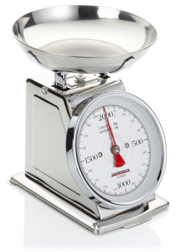 GASTROBACK 30102 Classic Waage, 2 kg mit Tara-Funktion, Küchenwaage, analog, mit...