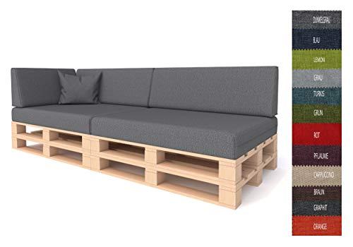 Pillows24 Palettenkissen 6-teiliges Set | Palettenauflage Polster für Europaletten |...