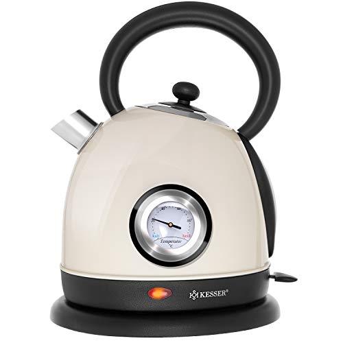 KESSER Wasserkocher Edelstahl | 2200W | BPA frei | 1,8 Liter | Retro Design |...