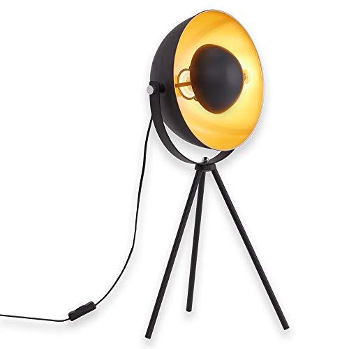 Briloner Leuchten Tischlampe Dreibein/Tripod, Tischlampe,  Metall, Retro-Lampe...