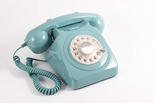GPO 746ROTARYBLU Klassisches Telefon im 70er Jahre Design Blau