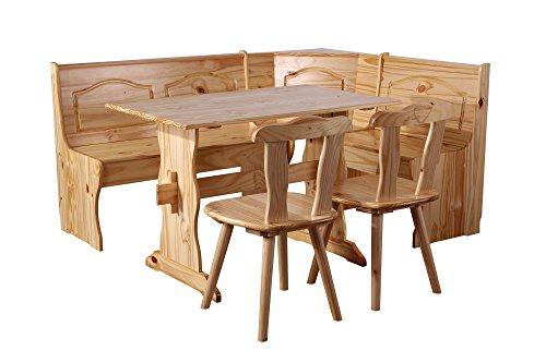 SixBros. Eckbankgruppe Rusica, komplette Essecke, Esstisch mit Tisch und 2 Stühlen,...