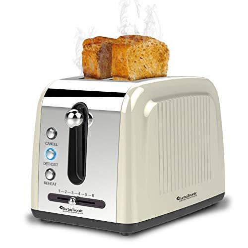 2 Scheiben Langschlitz Toaster mit 850W, Aufwärm- / Auftaufunktion, inkl....