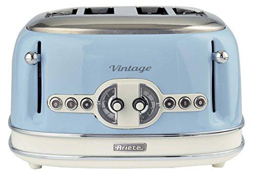 Ariete,156 Toaster im Vintage-Design für 4 Scheiben, 1600 W, 6 Toaststufen, aus...