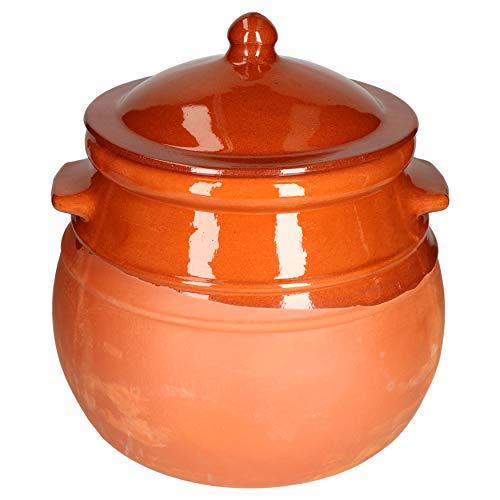 MamboCat Tontopf mit Deckel I Eintopf I Rum-/Gurkentopf I 4,5 Liter I Mediterran I...