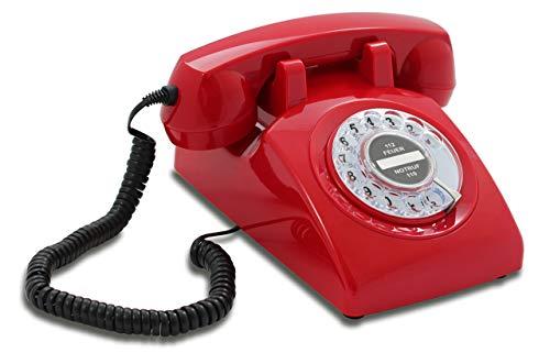 Opis 60s Cable: Klassisches Telefon der 60er und 70er mit schwarzem Deutsche Post...