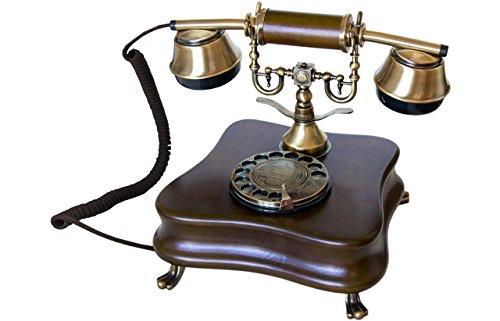 Opis 1921 Cable - Modell B - Retro Telefon aus Holz und Metall Telefon mit echter,...