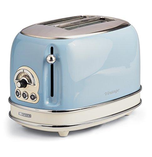 Ariete 155/05-blue 155 Vintage Toaster mit 2 Scheiben, 810, Blau
