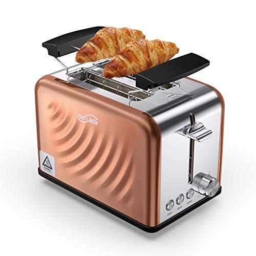 Housmile Edelstahl Toaster für 2 Brotscheiben, Frühstück Sandwichtoaster mit...