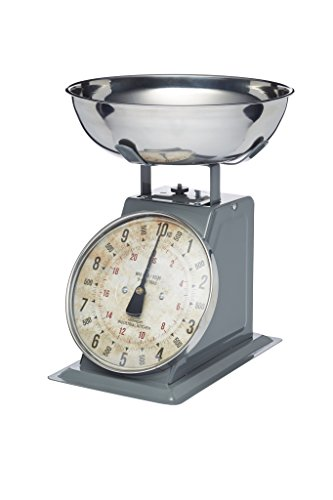 Kitchen Craft Küchenwaage Industrial Kitchen mechanisch bis 10kg, Metall, Grau, 30 x...