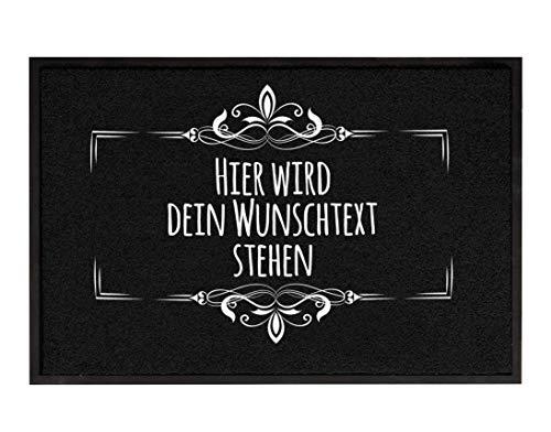 True Statements Fussmatte Dein Wunschtext 3zeilig personalisiert - originelles...
