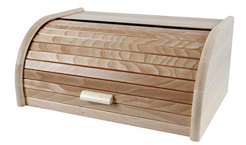 Brotbox, Rollbrotkasten aus Buche groß, made in EU