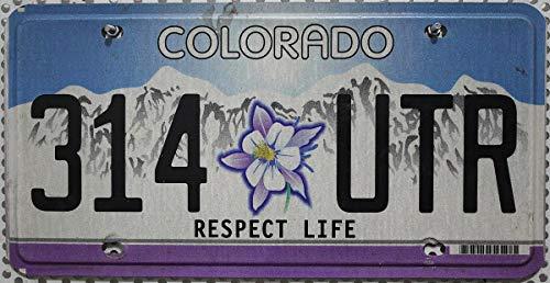 USA Nummernschild Colorado Life // Kennzeichen License Plate // US Blechschild
