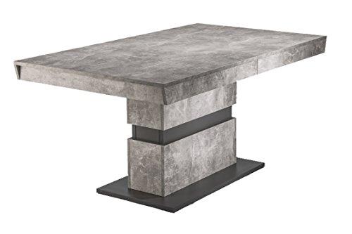 HOMEXPERTS Esszimmertisch MARLEY /Küchen-Tisch 160 cm mit Auszugsfunktion auf 220 cm...