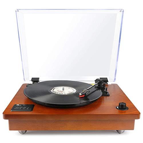1 BY ONE Schallplattenspieler Riemengetriebener Wireless Plattenspieler mit...