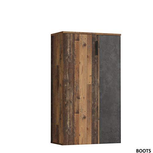 Forte BTS321-C754 Schuhschrank klein, Holzwerkstoff, Old Wood Vintage Dekor +...