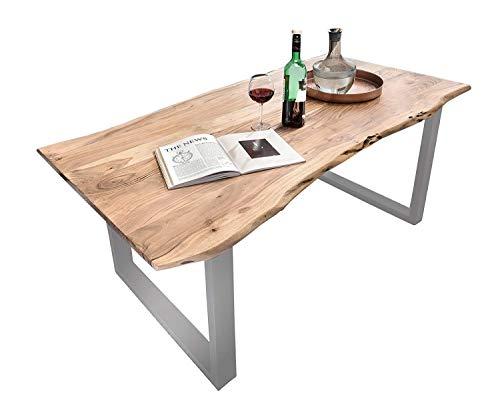 SAM Baumkantentisch 140x80 cm Quarto, Esszimmertisch aus Akazie, Holz-Tisch mit...