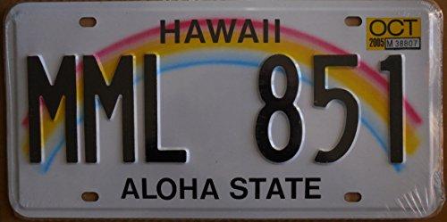 USA Kennzeichen, 31x 16cm, Nachdruck, Hawaii
