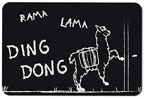 Tassenbrennerei Fußmatte mit Spruch Rama Lama Ding Dong - Türmatte lustig -...