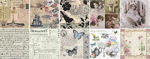 Zita`s Creative Servietten Set mit Decoupage-Kleber - Vintage time. Decoupage,...