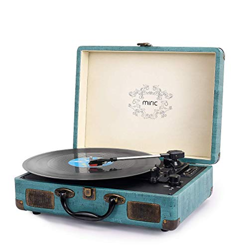 Plattenspieler, Miric Vintage Bluetooth Plattenspieler mit 2 eingebauten...