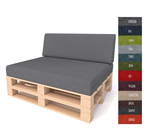 Pillows24 Palettenkissen 2-teiliges Set | Palettenauflage Polster für Europaletten |...