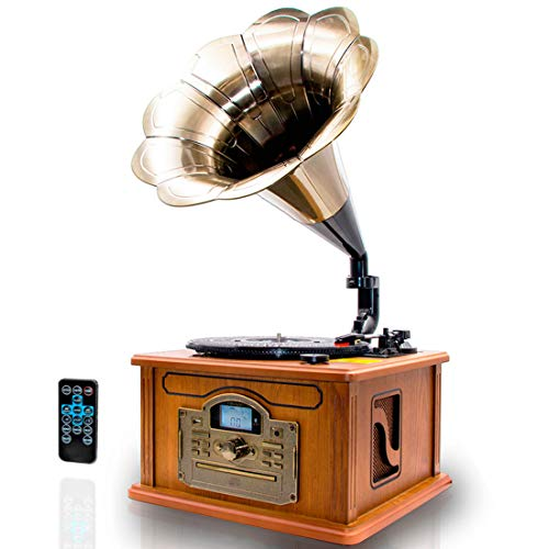 LAUSON CL147 Grammophon Plattenspieler Bluetooth   Nostalgie Holz Musikanlage   Retro...